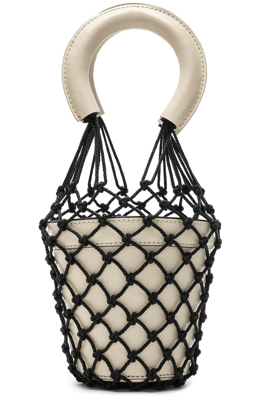 Image 1 of Staud Mini Moreau Bag in Cream & Black