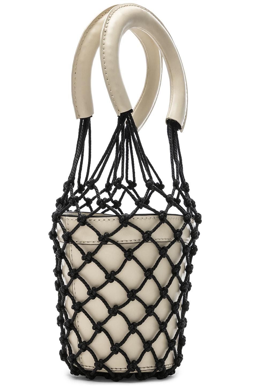 Image 4 of Staud Mini Moreau Bag in Cream & Black