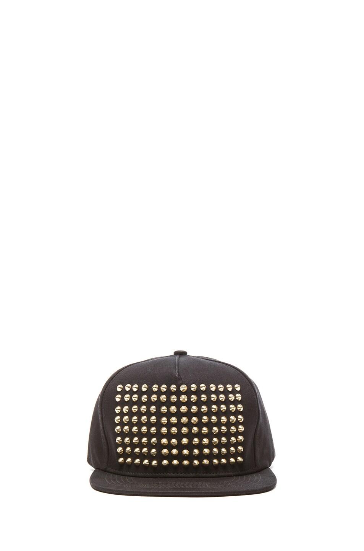 Image 1 of Stampd Studded Hat in Black & Gold