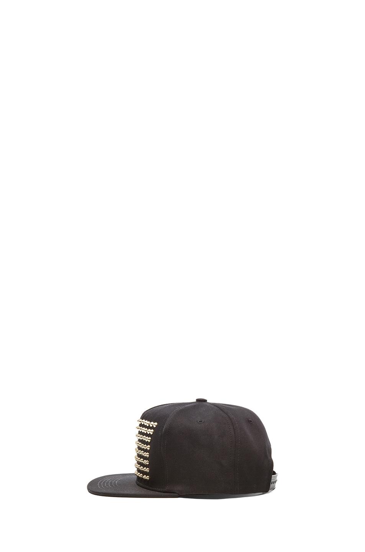 Image 3 of Stampd Studded Hat in Black & Gold