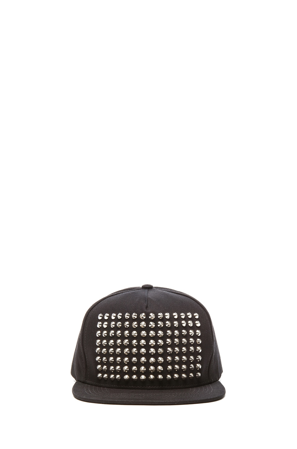 Image 1 of Stampd Studded Hat in Silver & Black