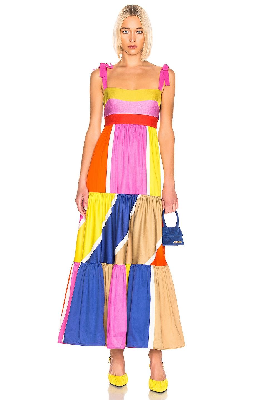 Image 1 of SILVIA TCHERASSI for FWRD El Prado Dress in Multi Bright Stripes