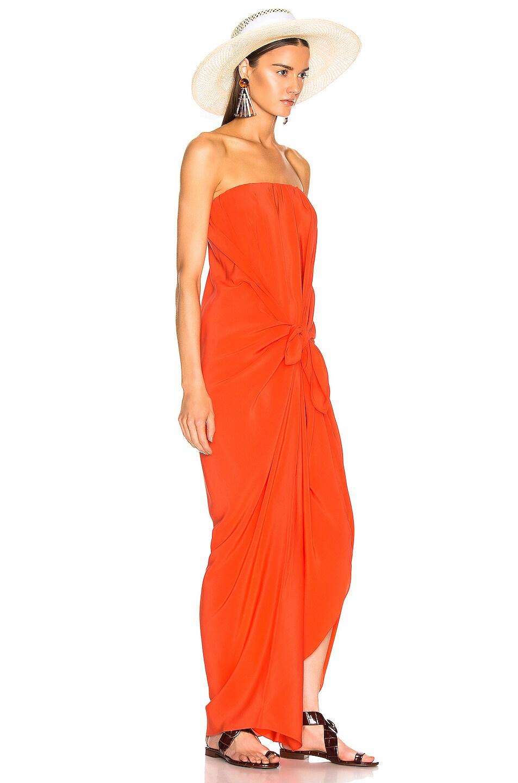 Image 2 of SILVIA TCHERASSI for FWRD Kokama Dress in Red Orange