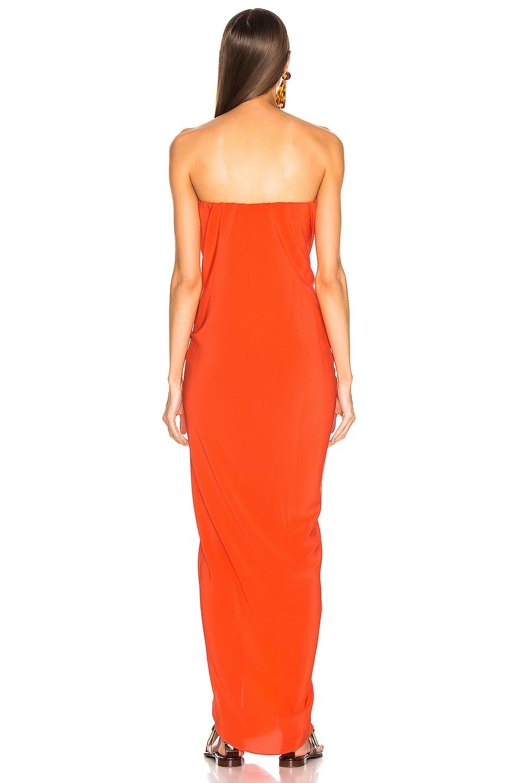 Image 3 of SILVIA TCHERASSI for FWRD Kokama Dress in Red Orange