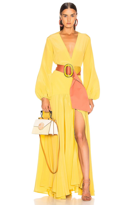 Image 1 of SILVIA TCHERASSI Felicity Dress in Dandelion