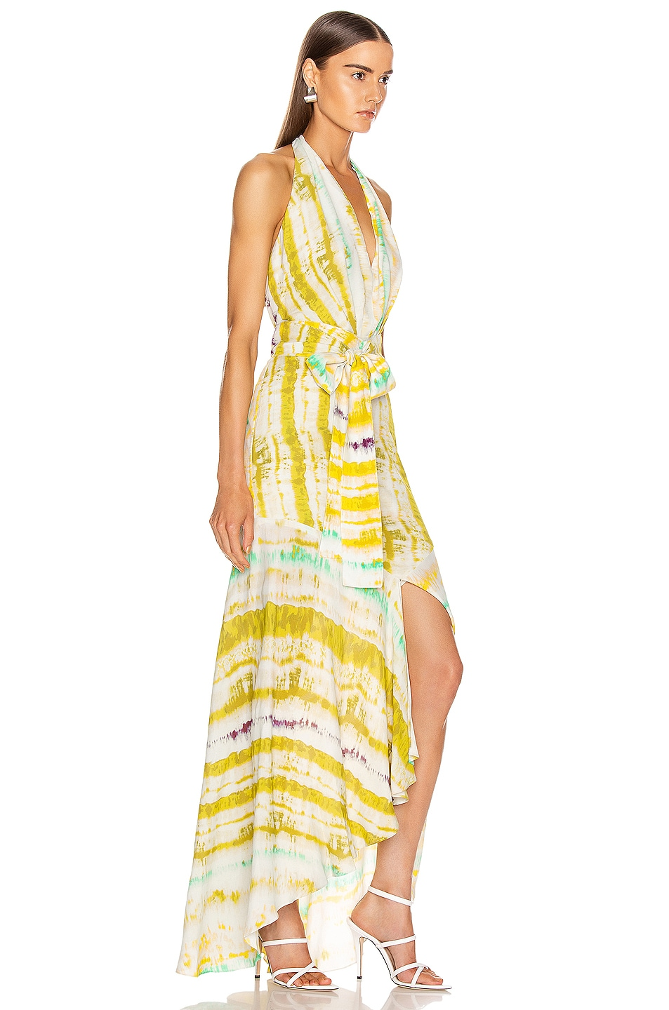 Image 2 of SILVIA TCHERASSI Ardell Dress in Citrus Watercolor