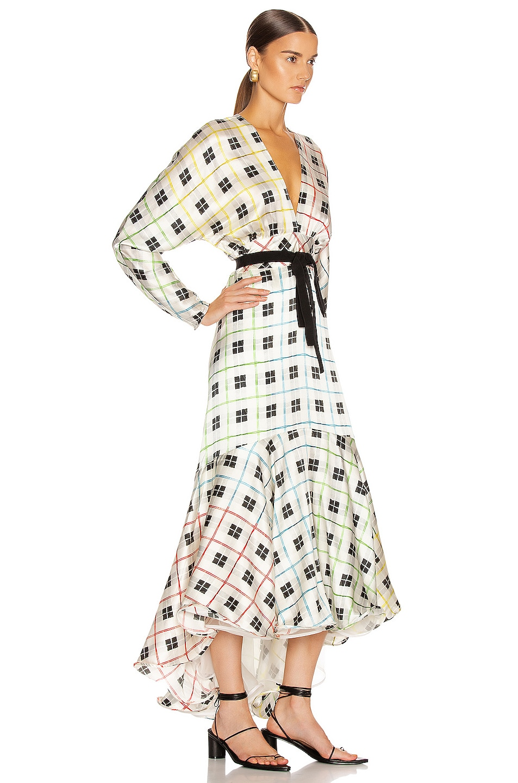 Image 3 of SILVIA TCHERASSI Angelena Dress in Rainbow Checkered