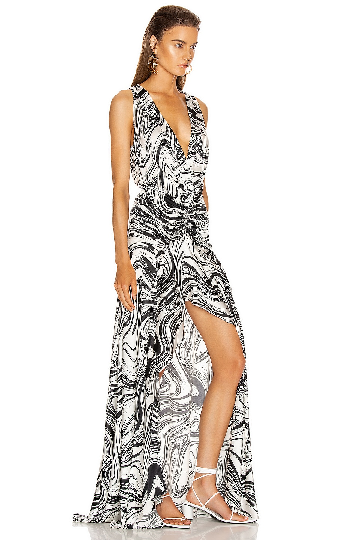 Image 2 of SILVIA TCHERASSI Egle Dress in Black & White Marble
