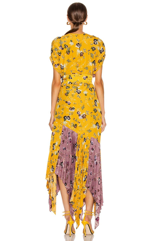Image 3 of SILVIA TCHERASSI Drustil Dress in Floral Lavender & Mustard