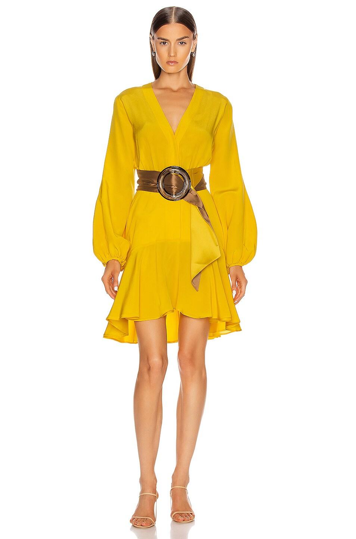 Image 1 of SILVIA TCHERASSI Filis Dress with Belt in Desert Marigold