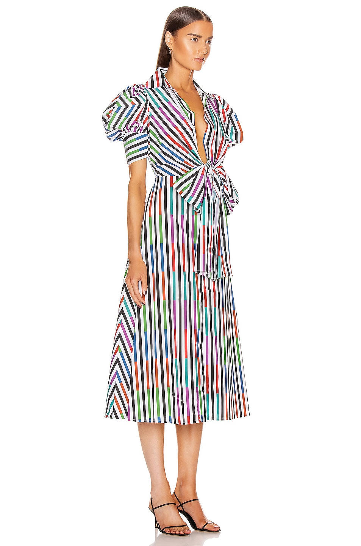 Image 2 of SILVIA TCHERASSI Roopal Dress in Sangria Stripes