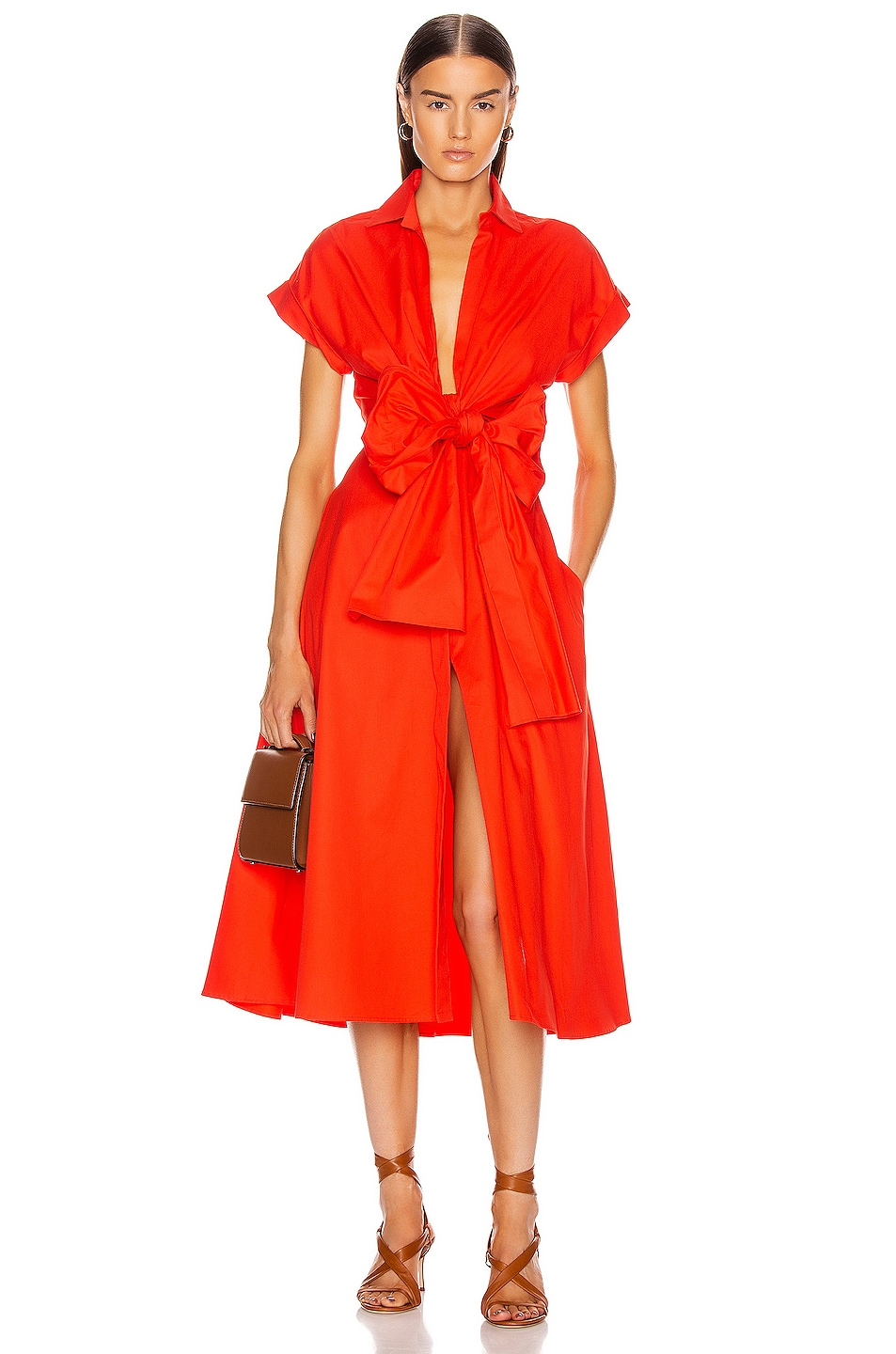 Image 1 of SILVIA TCHERASSI Sampuesana Dress in Scarlet