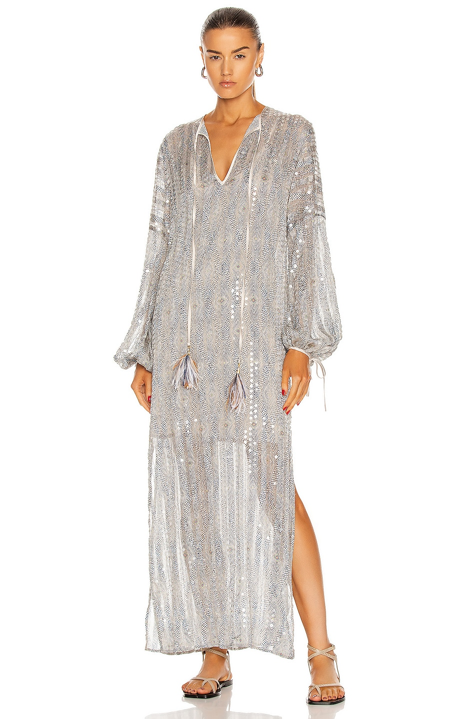 Image 1 of SILVIA TCHERASSI Mayfair Dress in Silver Breeze Sequin