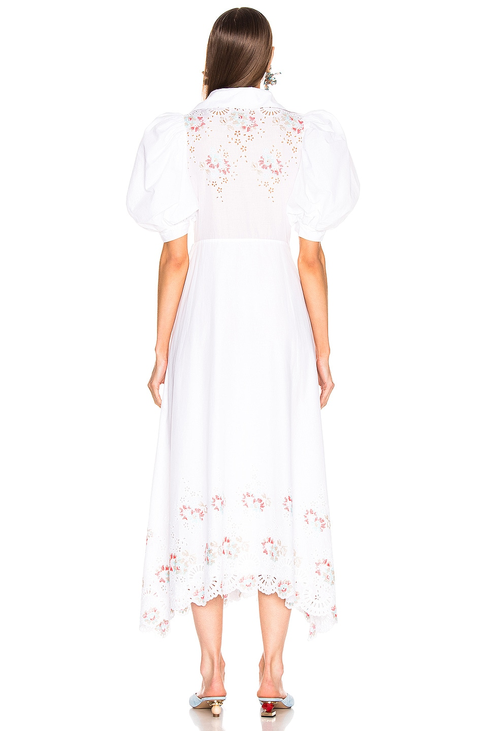Image 3 of SILVIA TCHERASSI for FWRD Embroidered Assunta Dress in Floral White