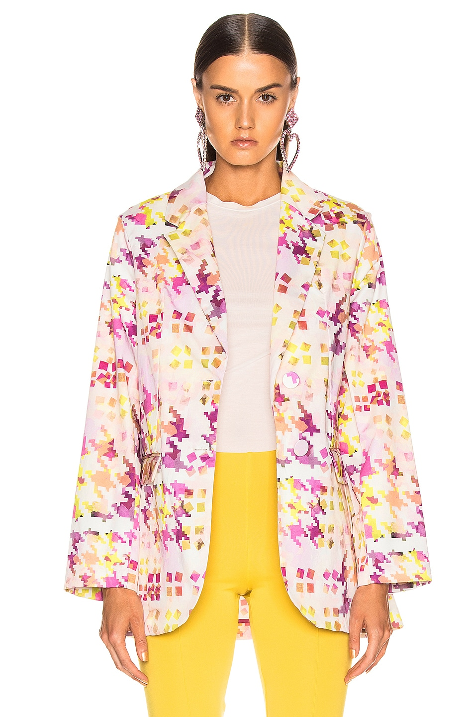 Image 2 of SILVIA TCHERASSI Hannover Jacket in Purple Kaleidoscope