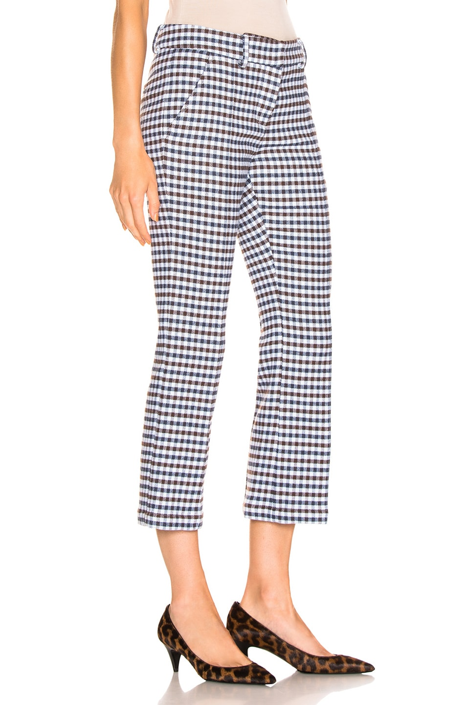Image 2 of SILVIA TCHERASSI Leira Pant in Checkered Navy