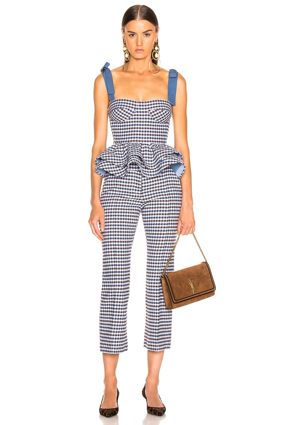 Image 4 of SILVIA TCHERASSI Leira Pant in Checkered Navy