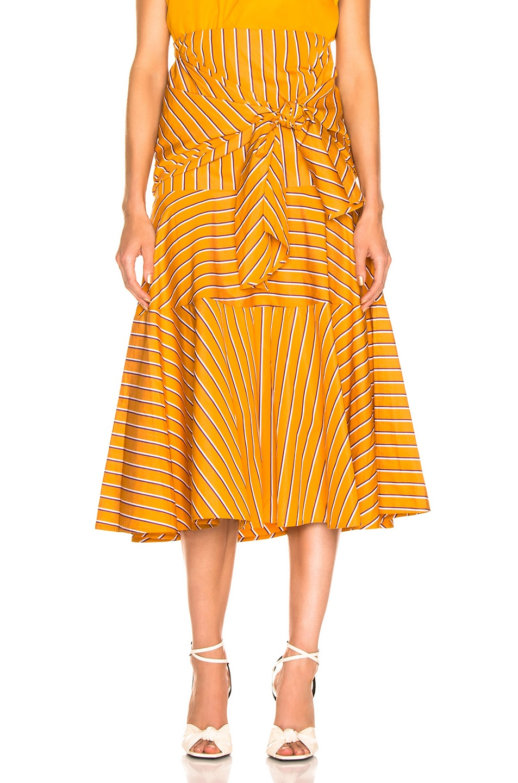 Image 1 of SILVIA TCHERASSI Fucsia Skirt in Apricot Stripes