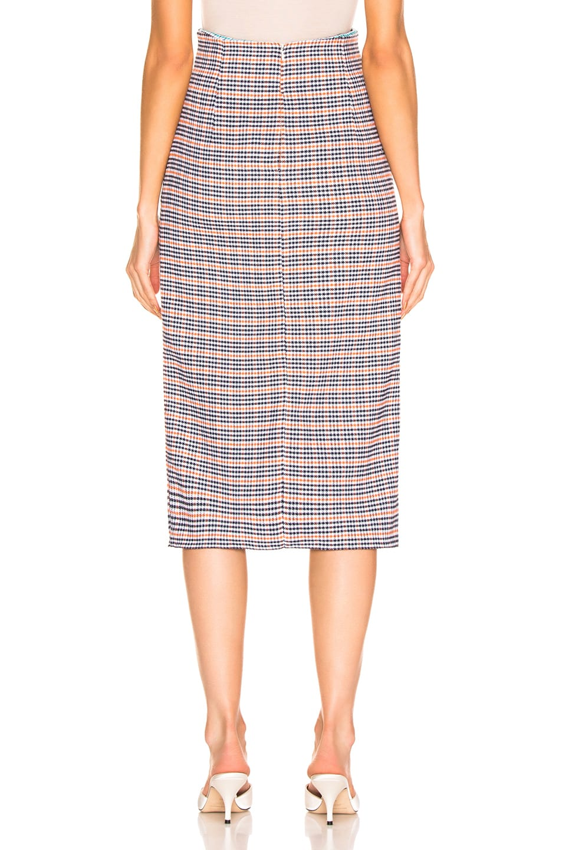 Image 3 of SILVIA TCHERASSI Guzmania Skirt in Checkered Orange