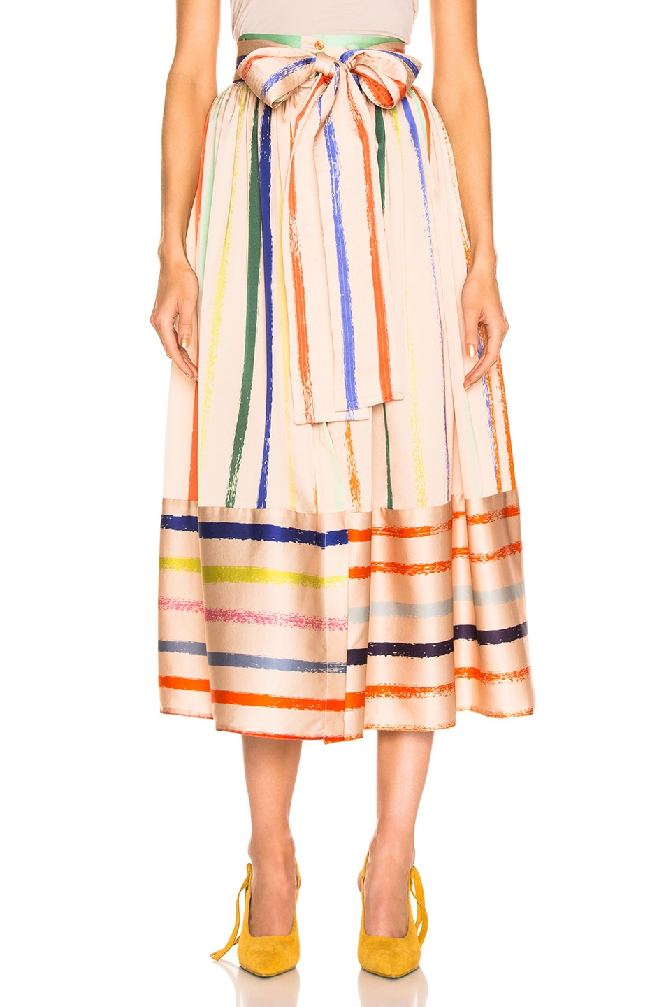 Image 1 of SILVIA TCHERASSI Tomillo Skirt in Pastel Multi