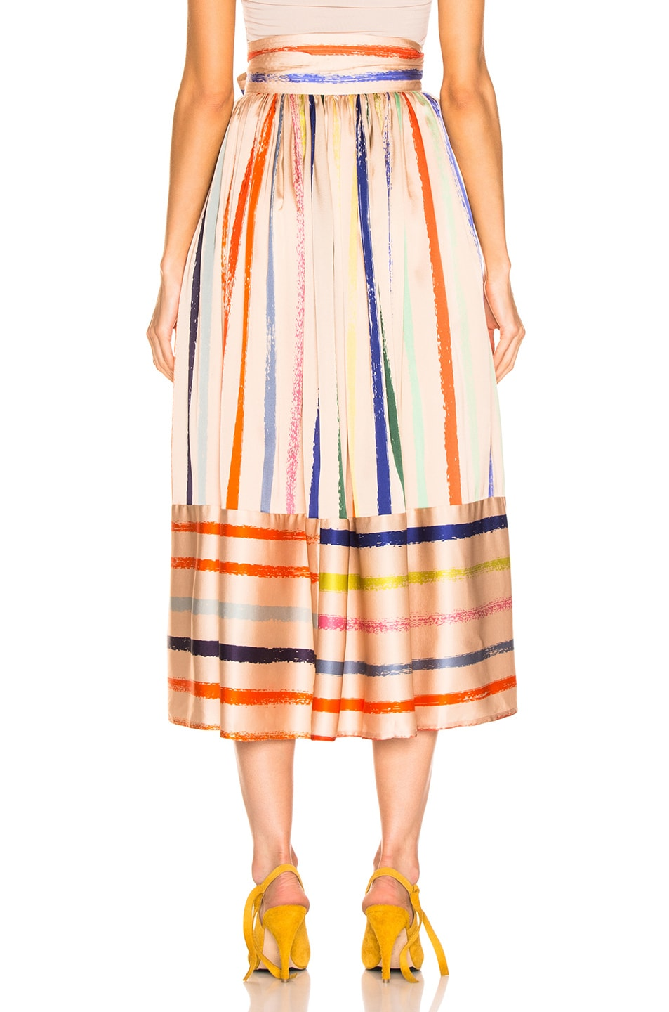 Image 3 of SILVIA TCHERASSI Tomillo Skirt in Pastel Multi
