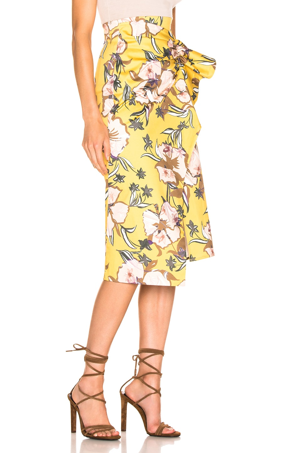 Image 2 of SILVIA TCHERASSI Guzmania Skirt in Botanical Yellow