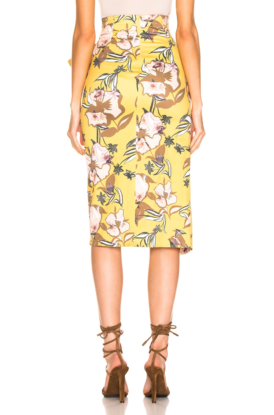 Image 3 of SILVIA TCHERASSI Guzmania Skirt in Botanical Yellow