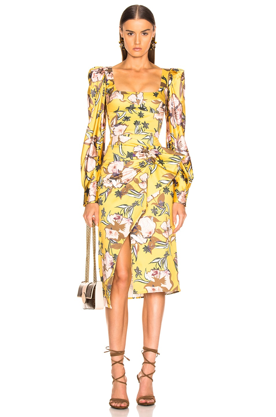 Image 4 of SILVIA TCHERASSI Guzmania Skirt in Botanical Yellow