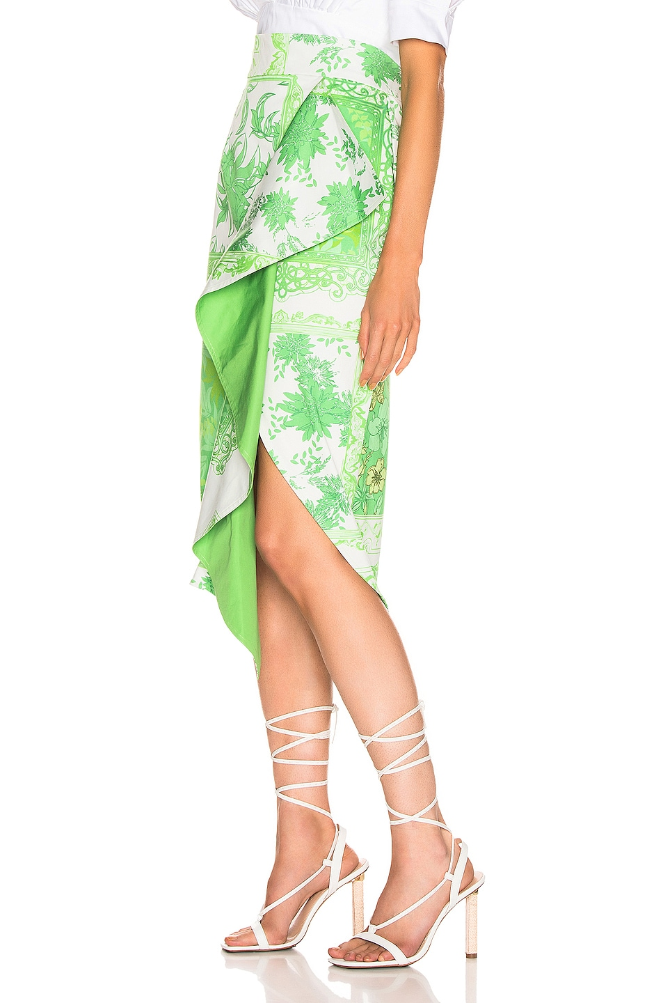Image 3 of SILVIA TCHERASSI Waterloo Skirt in Green Bandana