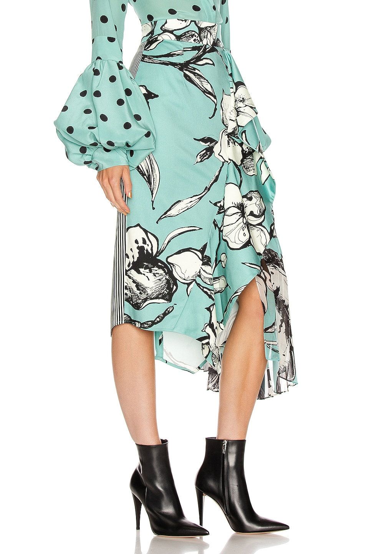 Image 2 of SILVIA TCHERASSI Aretha Skirt in Floral Aqua