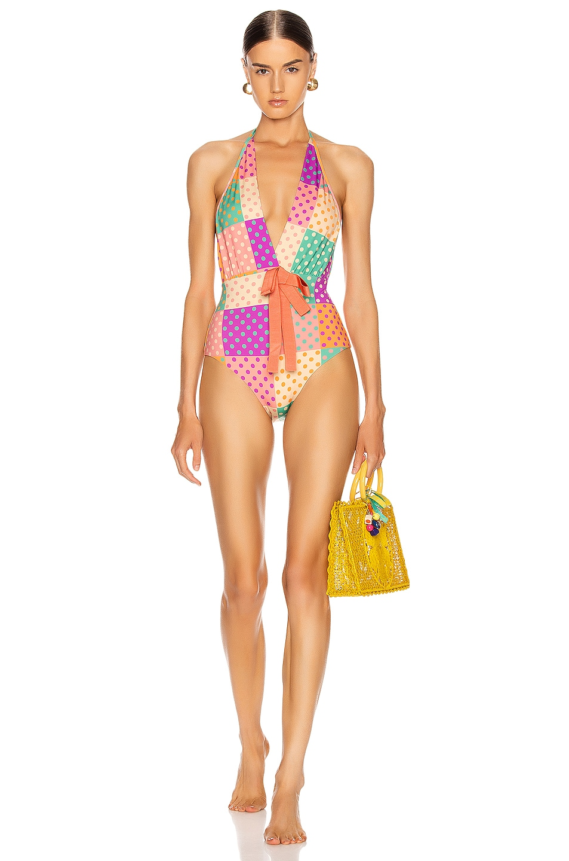 Image 2 of SILVIA TCHERASSI for FWRD Callen Bodysuit in Autumn Polka Dots