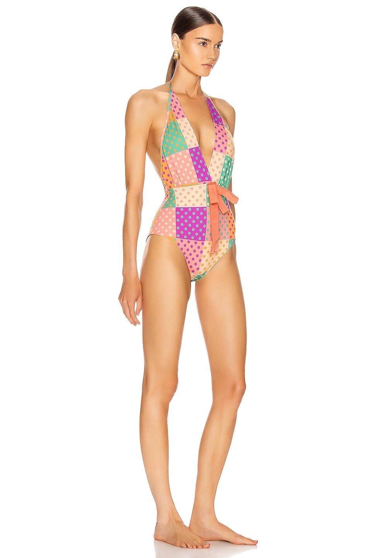 Image 3 of SILVIA TCHERASSI for FWRD Callen Bodysuit in Autumn Polka Dots