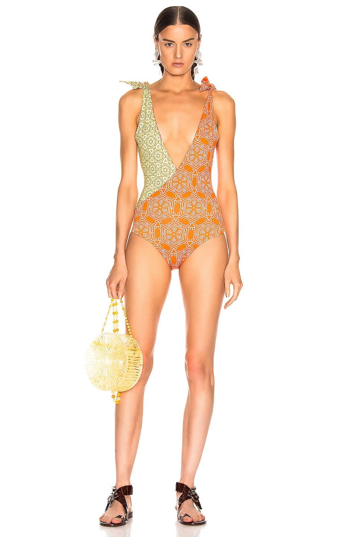 Image 1 of SILVIA TCHERASSI for FWRD Alicia Bodysuit in Spanish Sunset