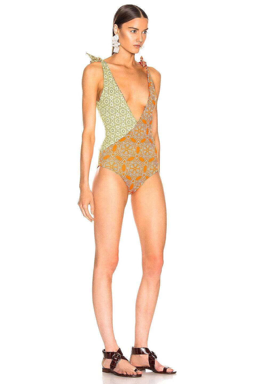 Image 3 of SILVIA TCHERASSI for FWRD Alicia Bodysuit in Spanish Sunset