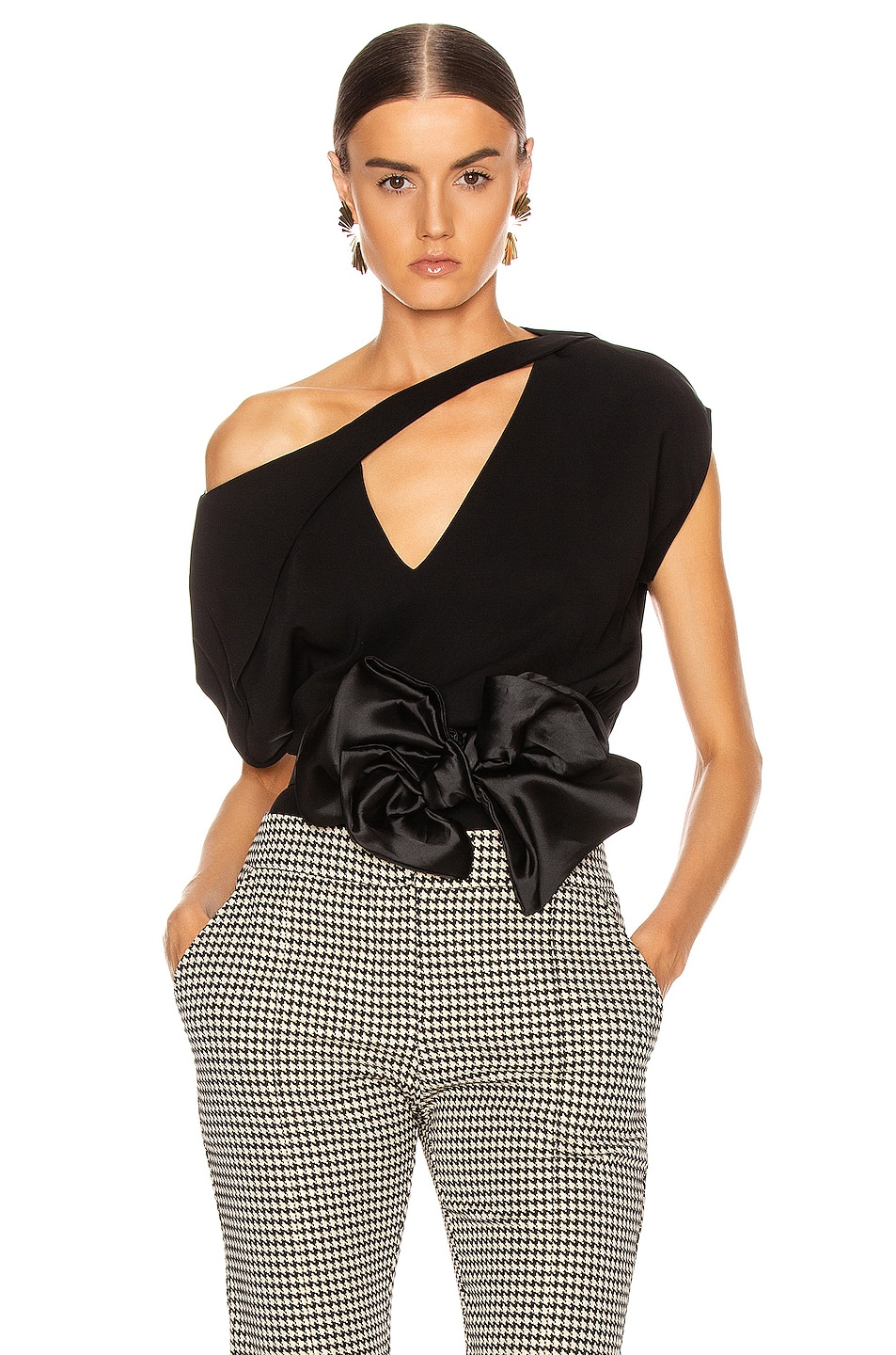 Image 1 of SILVIA TCHERASSI Alejandrina Blouse in Black