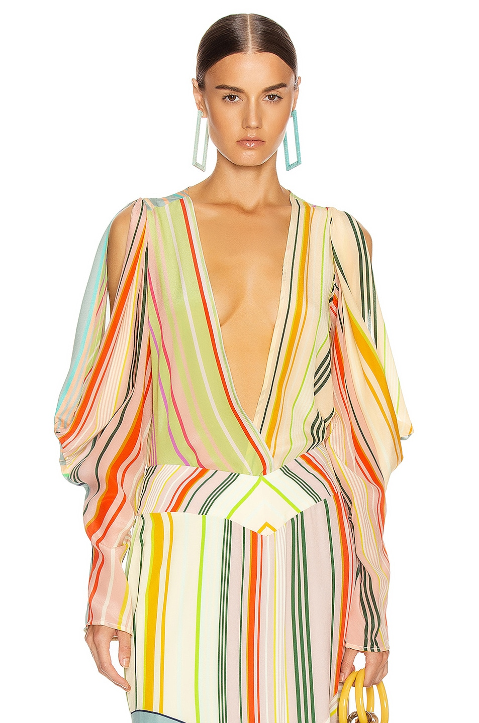 Image 1 of SILVIA TCHERASSI Caledonia Top in Summer Stripes
