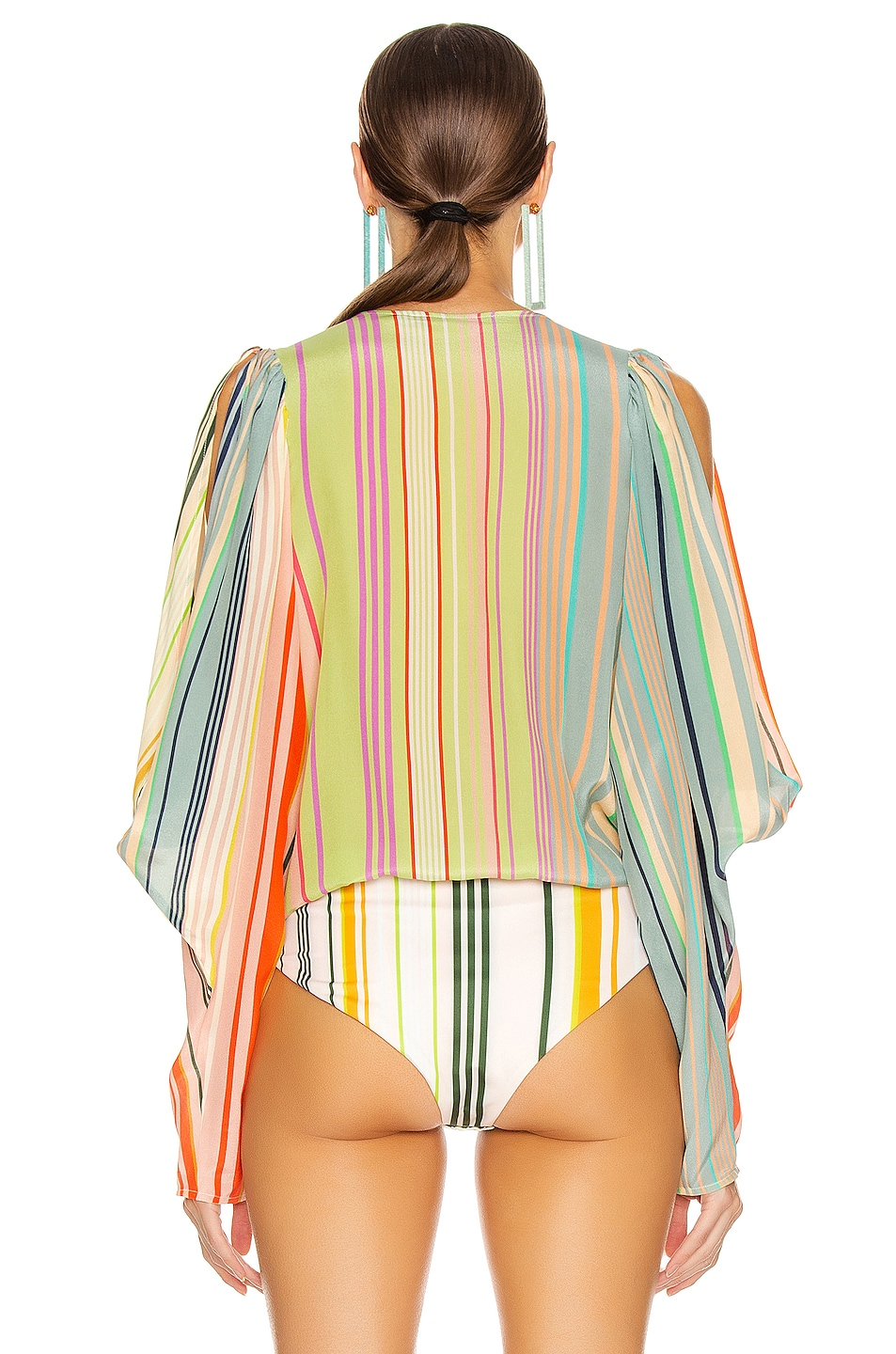 Image 4 of SILVIA TCHERASSI Caledonia Top in Summer Stripes