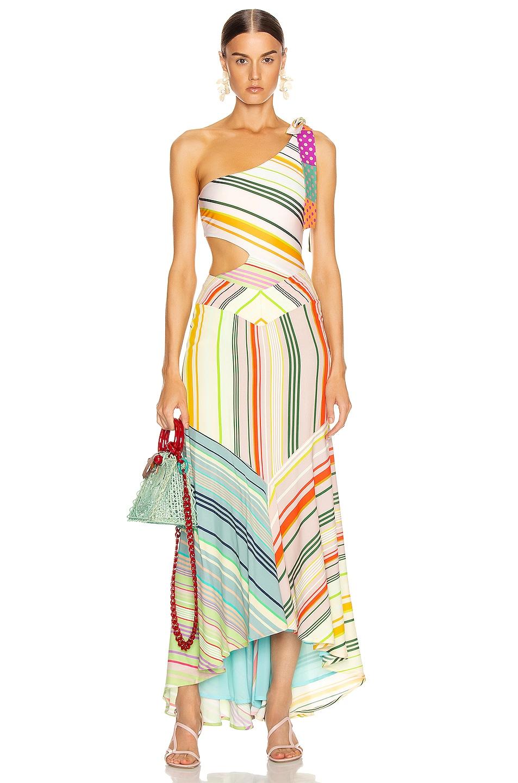 Image 6 of SILVIA TCHERASSI Calista Bodysuit in Summer Stripes