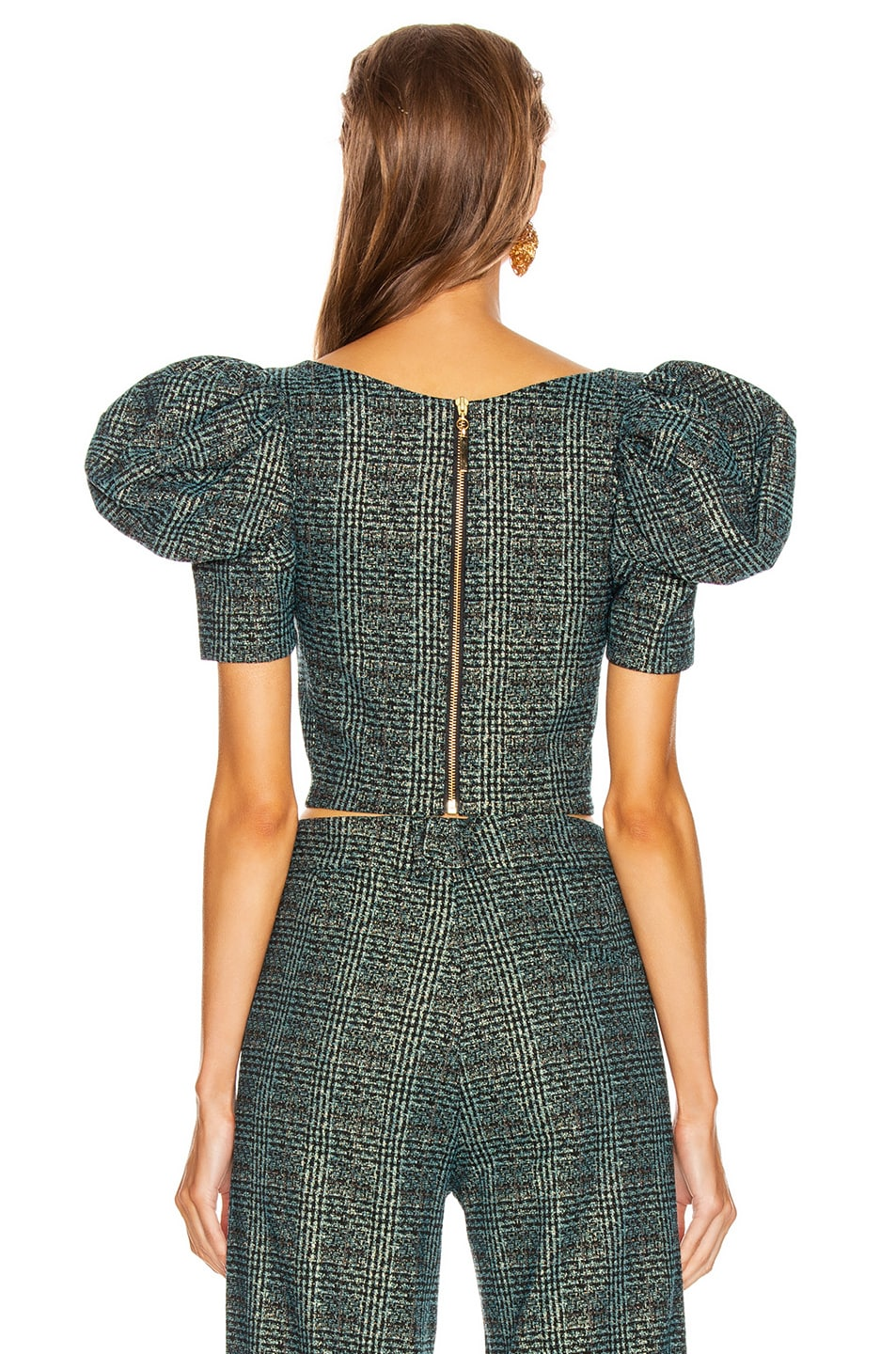 Image 3 of SILVIA TCHERASSI Darly Top in Teal Plaid