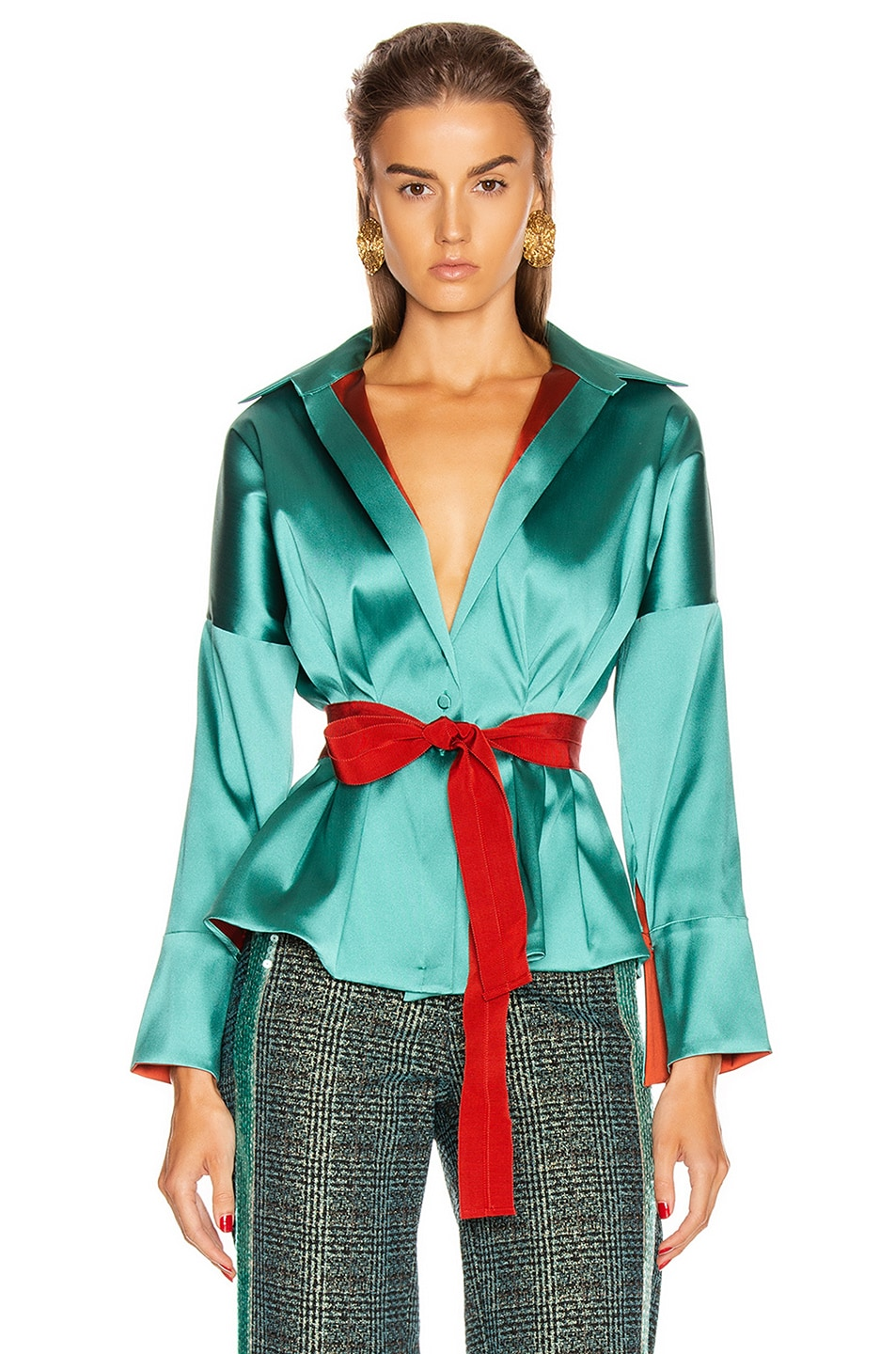 Image 1 of SILVIA TCHERASSI Destiny Top in Teal
