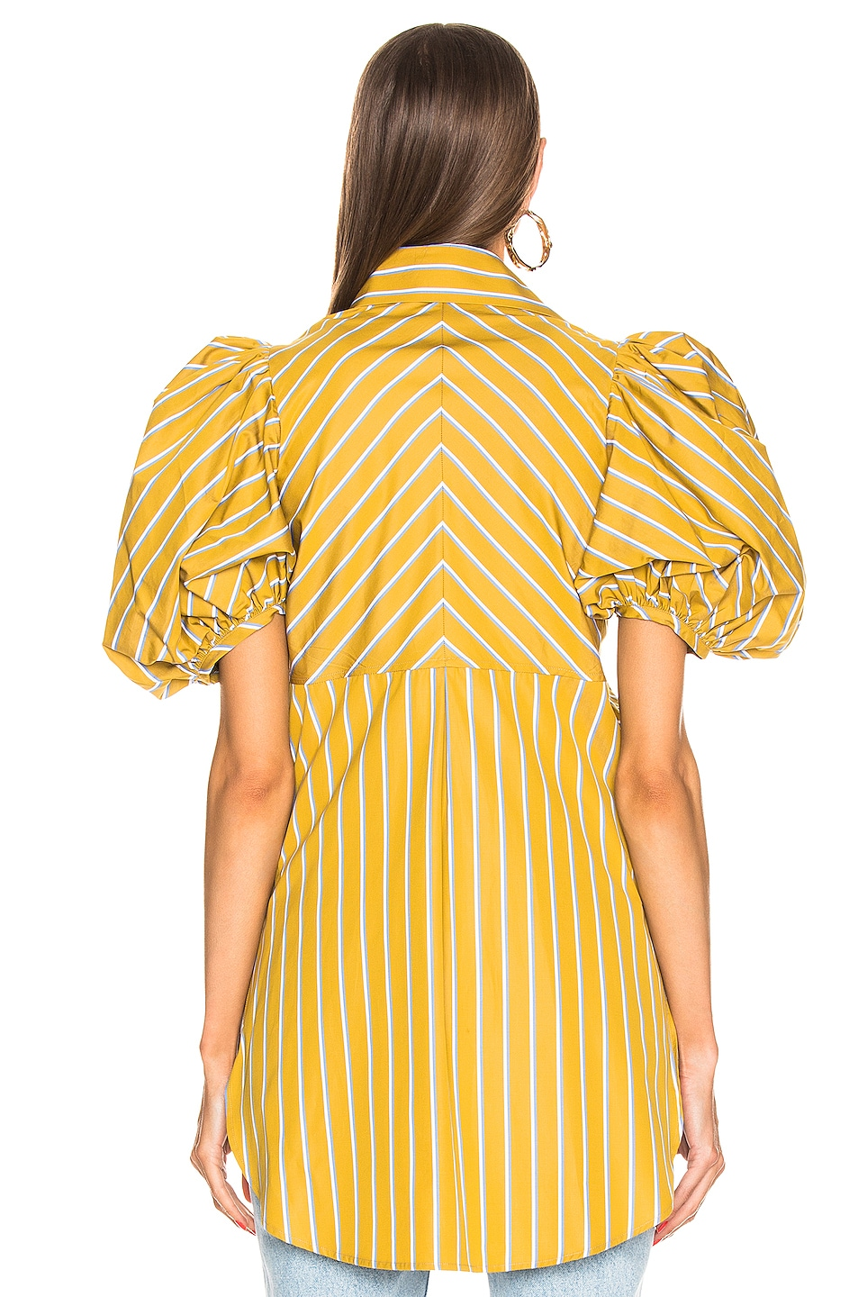 Image 4 of SILVIA TCHERASSI Primula Blouse in Lemon Stripes