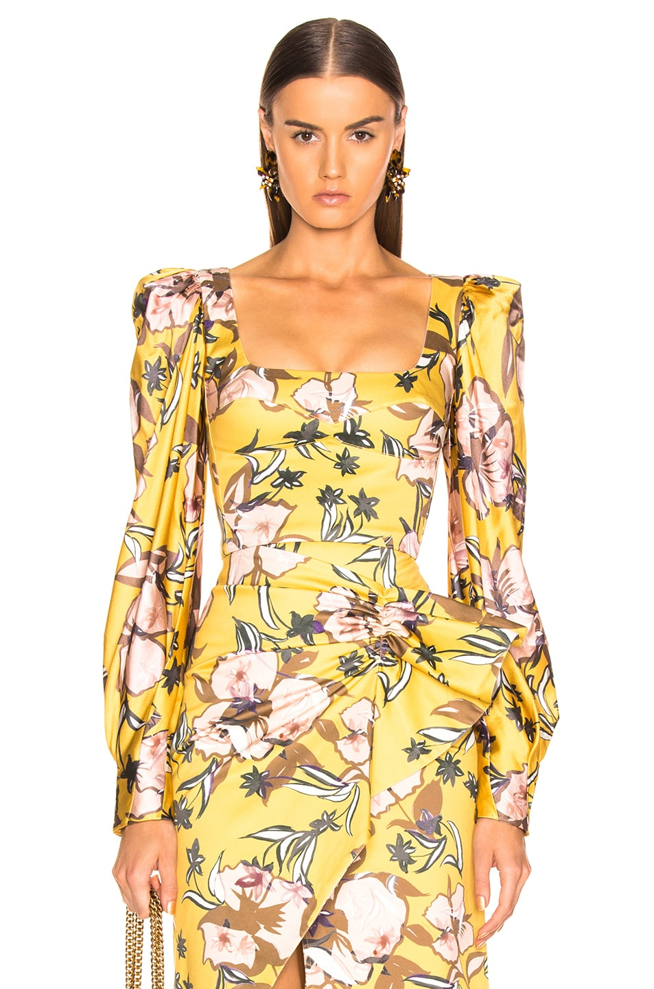 Image 1 of SILVIA TCHERASSI Madison Top in Botanical Yellow