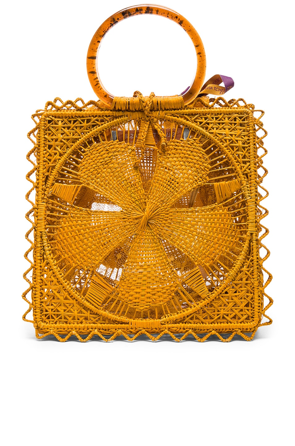 Image 3 of SILVIA TCHERASSI Luriza Bag in Mustard
