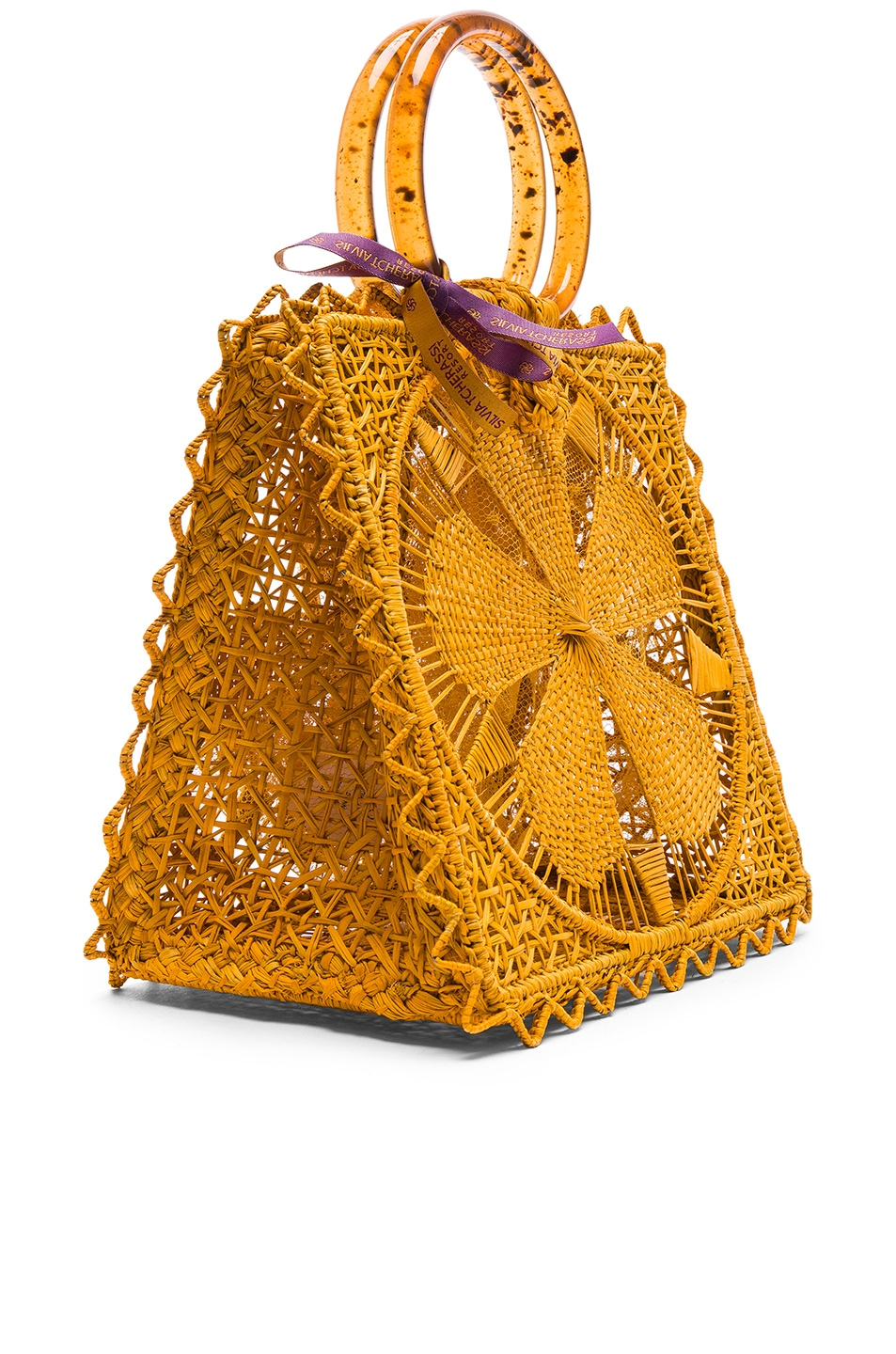 Image 4 of SILVIA TCHERASSI Luriza Bag in Mustard