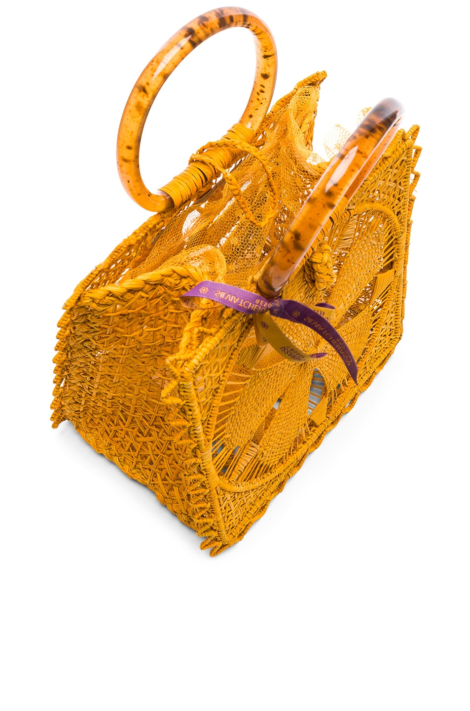 Image 5 of SILVIA TCHERASSI Luriza Bag in Mustard