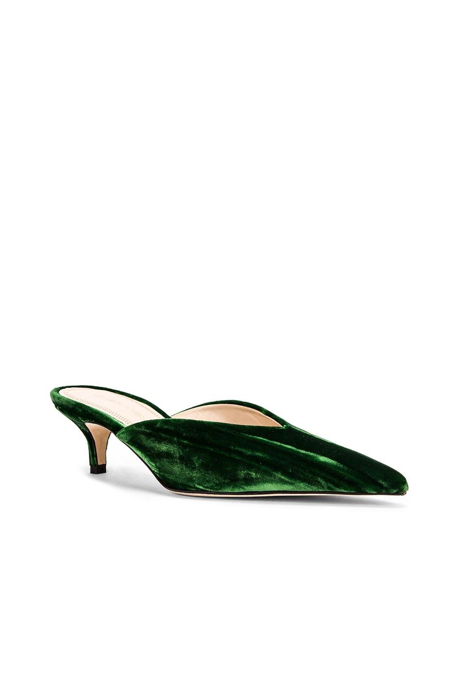 Image 2 of SILVIA TCHERASSI x Gia Couture Bandana Girl Slide in Emerald Green