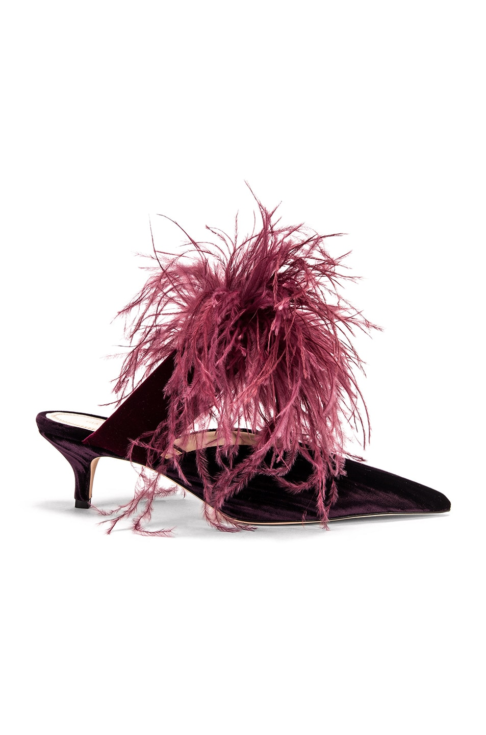 Image 1 of SILVIA TCHERASSI x Gia Couture Bandana Girl Feather Slide in Plum