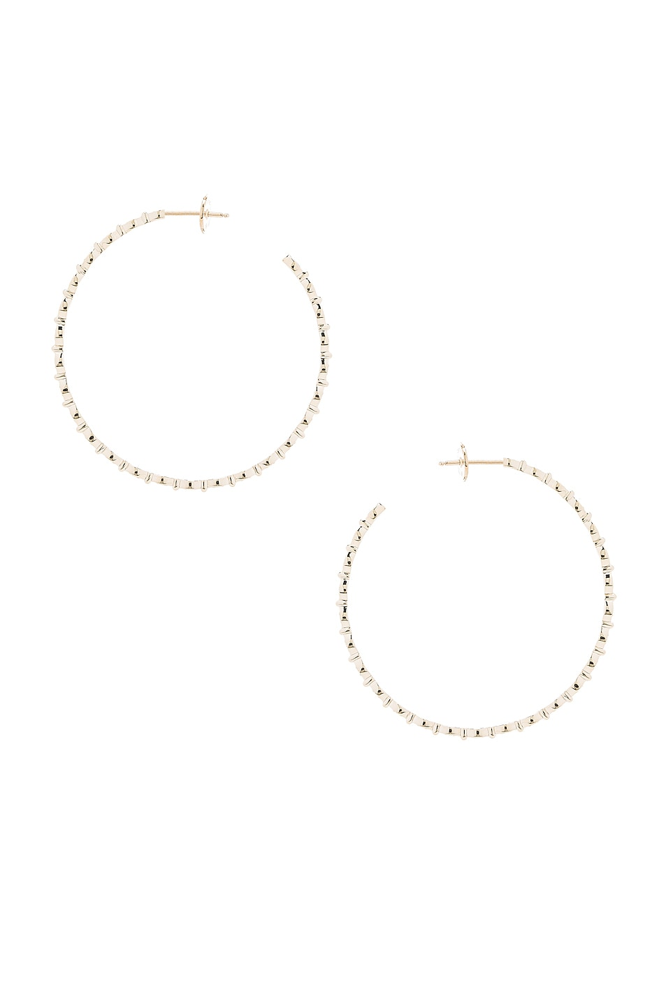 STONE PARIS YASMINE HOOP EARRINGS IN METALLICS