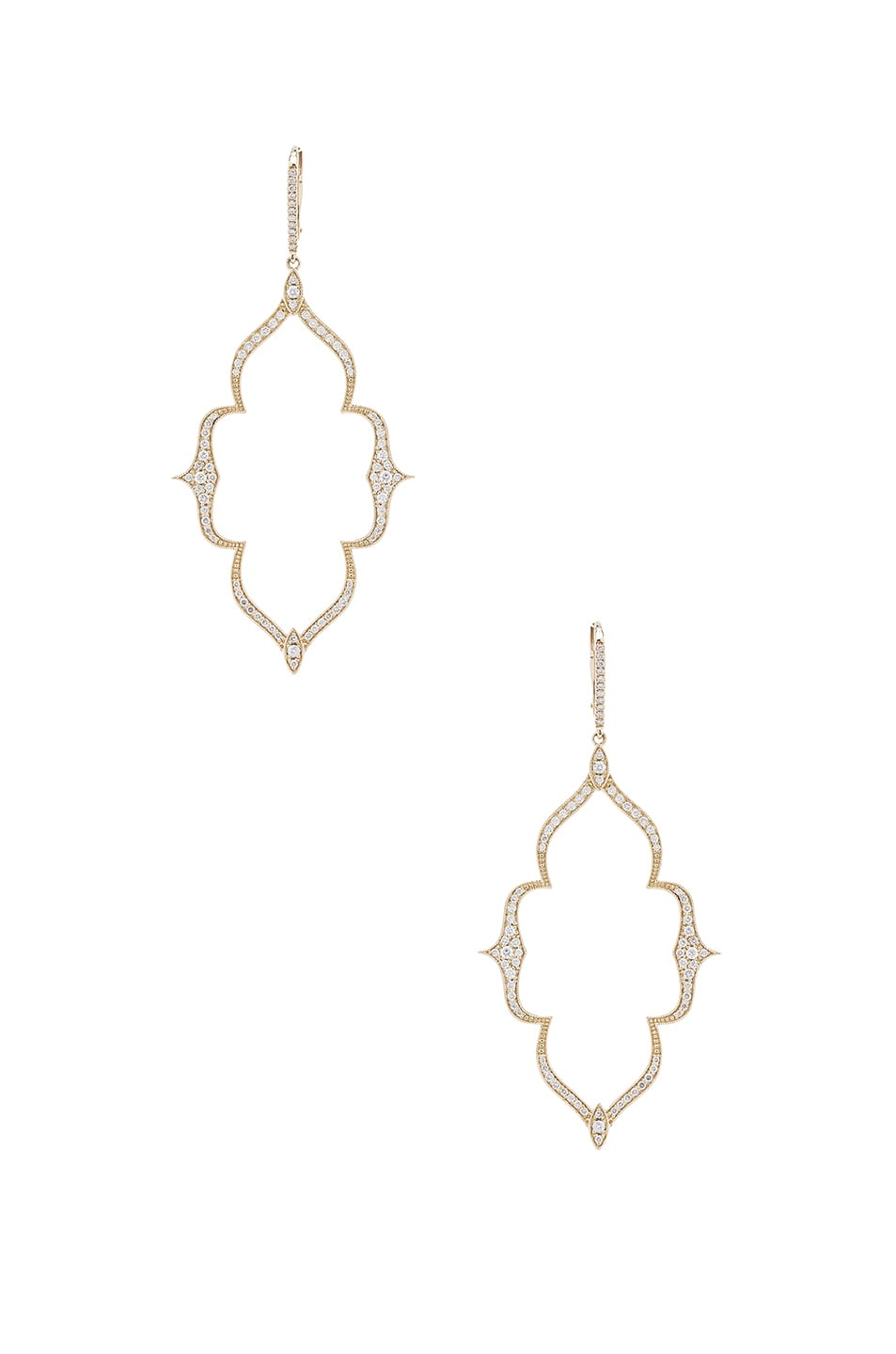 STONE PARIS MOON RIVER EARRINGS IN METALLICS