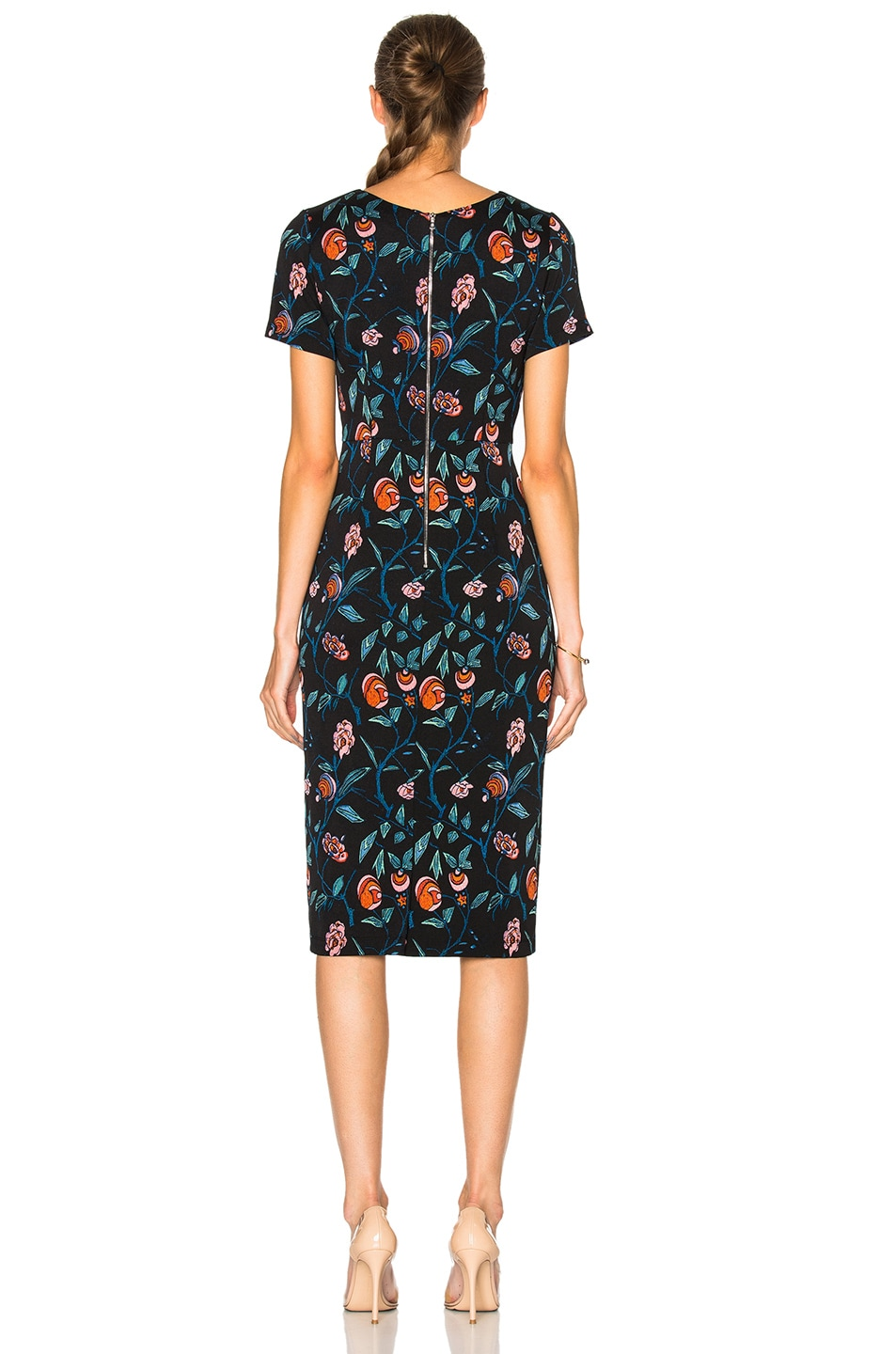 Image 4 of SUNO Cut Out Dress in Floral Black